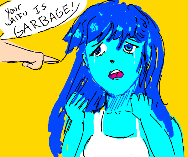 Blue Anime Girl is GARBAGE