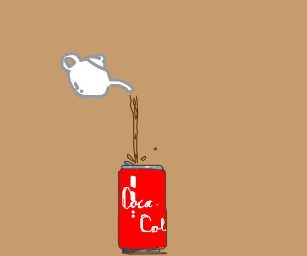 Tea in a coke can