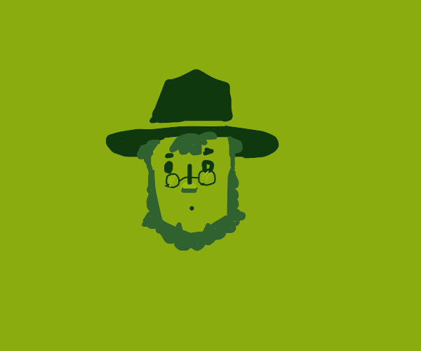 Amish man's head