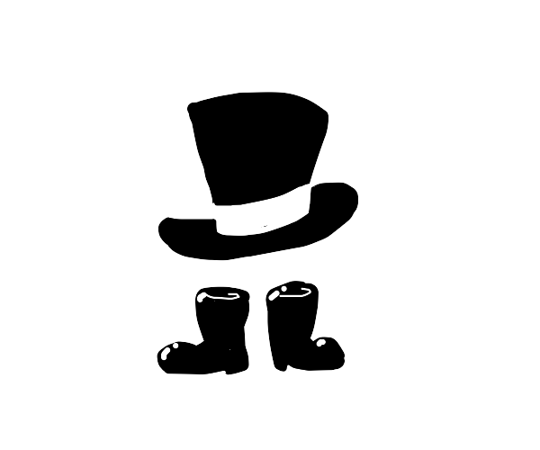 boots with a top hat