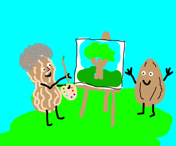 bob ross peanut befriends almond