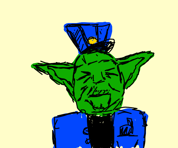 Yoda as police officer