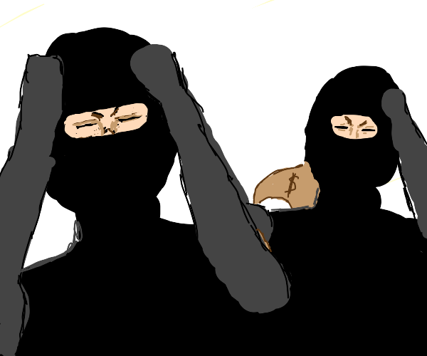 Frustrated bank robbers