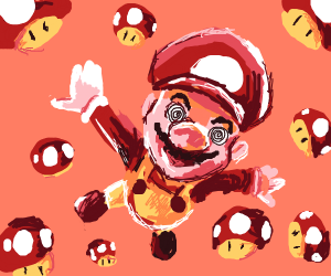 mario high on shrooms