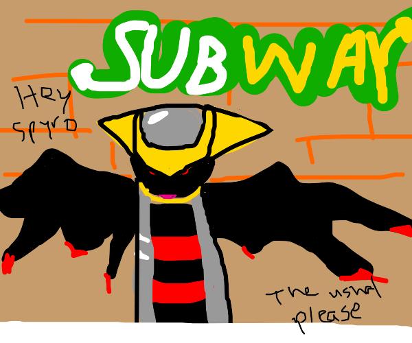 giratina at subway