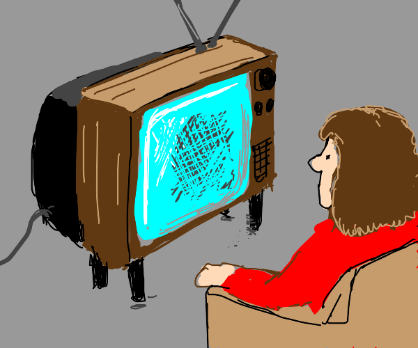 Watching CRT TV