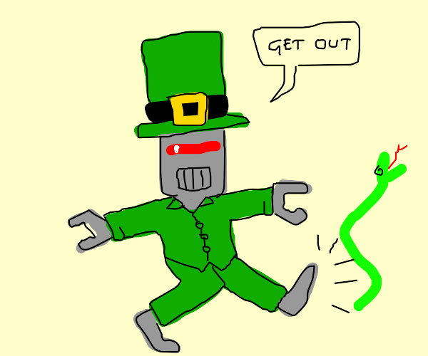 St. Patrick is actually a ROBOT as expected
