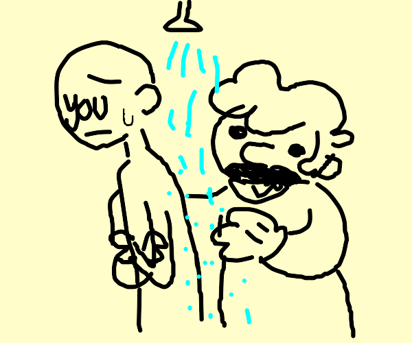 shower with mario simulator