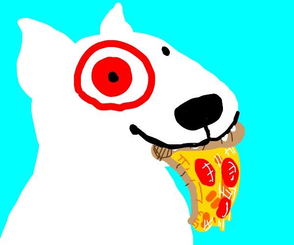 Target dog steals pizza