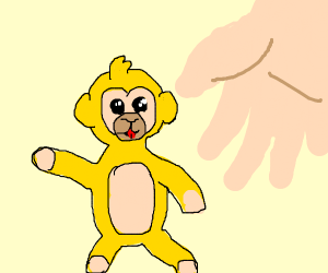 Yellow monkey toy