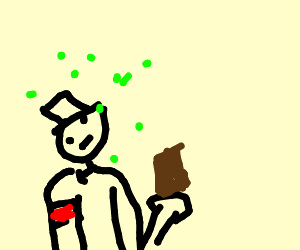 Drunk Nazi Eating Chocolate