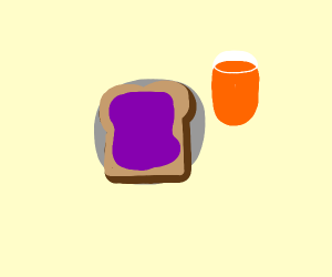 jelly toast on a plate