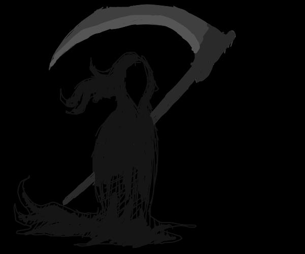 Grim Reaper camouflage in darkness.