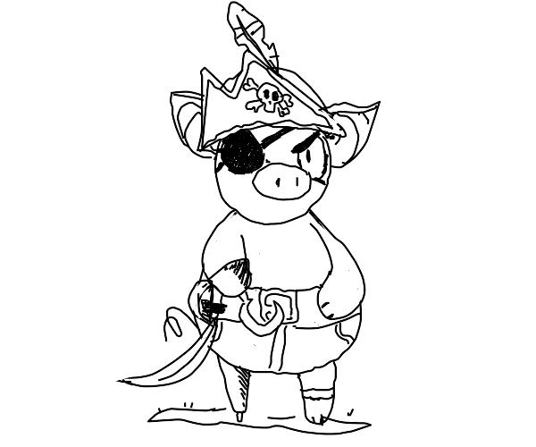 Pirate piggie