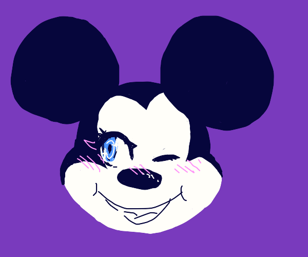 Kawaii micky mouse winking at ya