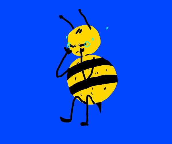 fat bee with no wings