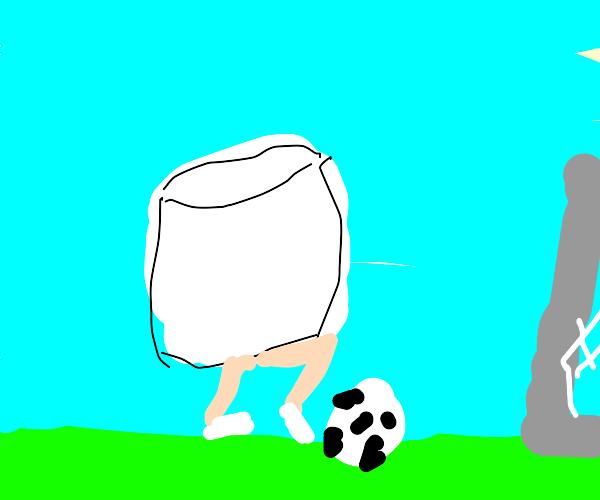 Marshmallows Playing Soccer