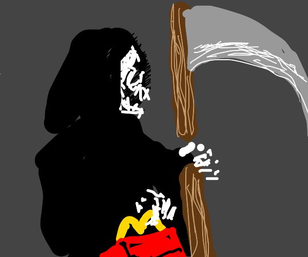 Grim Reaper gets happy meal