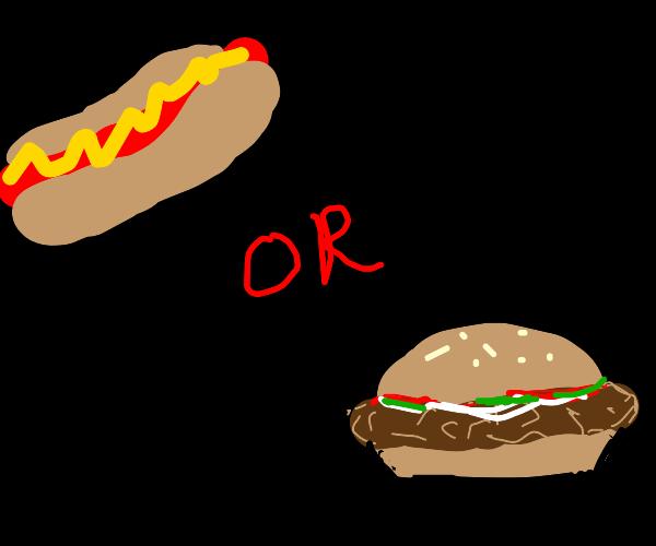 hotdog or hamburger