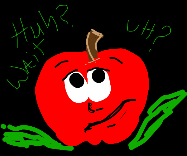 Confused apple