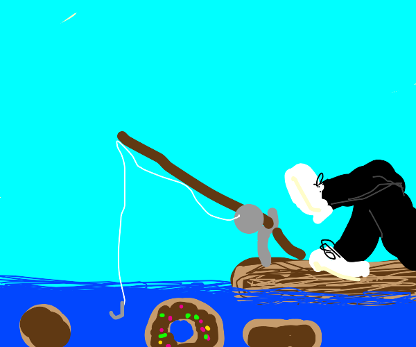 fishing for a donut