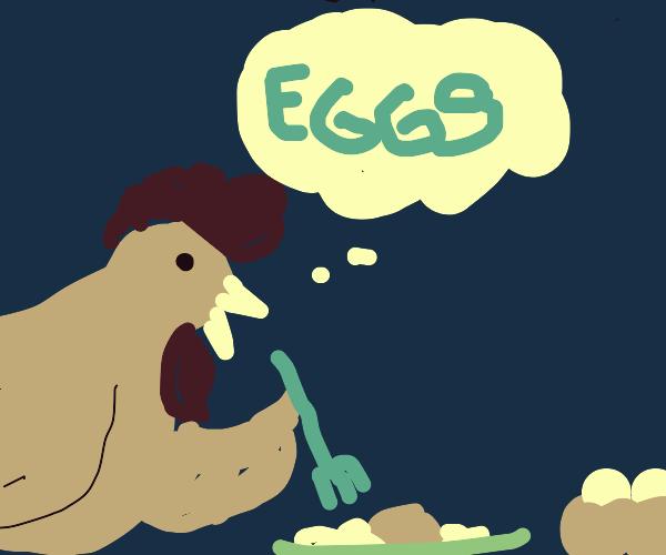 cannibalistic chicken