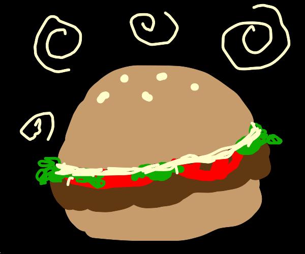 Burger w/ mayo lettuce tomato withswirlsonpg
