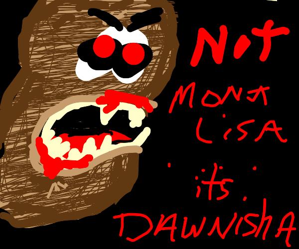 "potato monster saying ""not mmonalisa"""