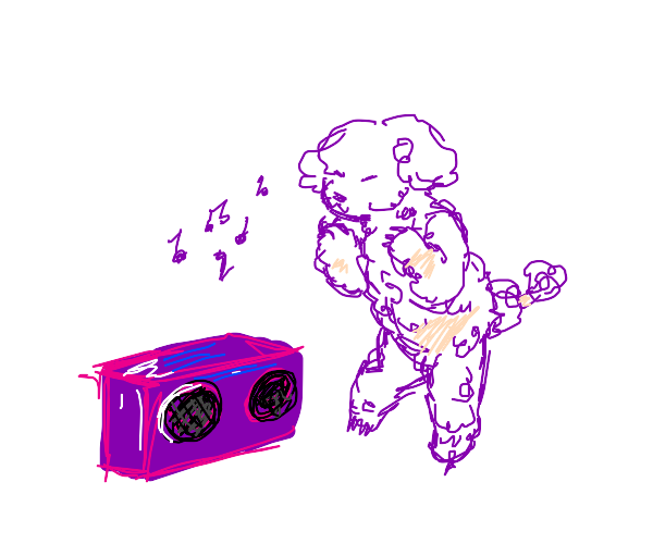 poodle dancing to music