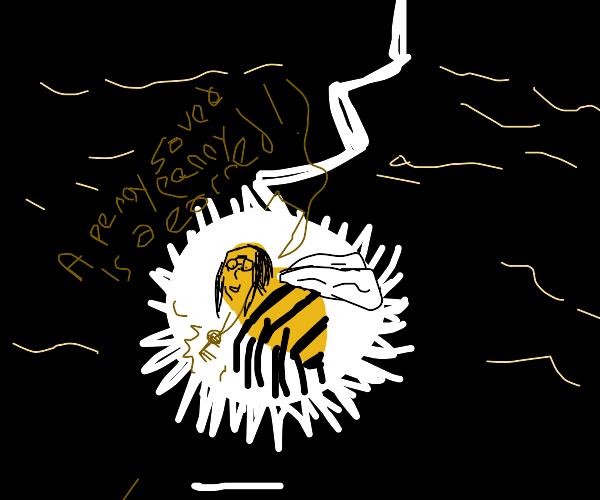 Beeee Benjamin Franklin