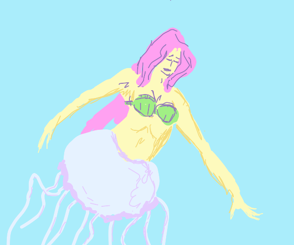 A mermaid with a jellyfish body