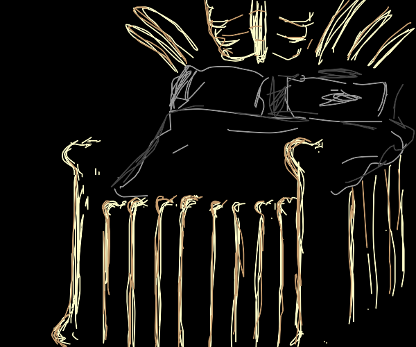 bed made of bones