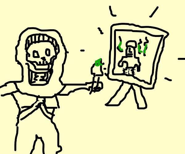 skeletor drawin heman pooping his furry pants