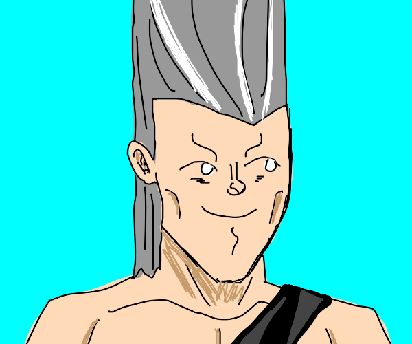 polnareff with a lenny face