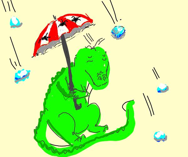 Alligator in a Hailstorm