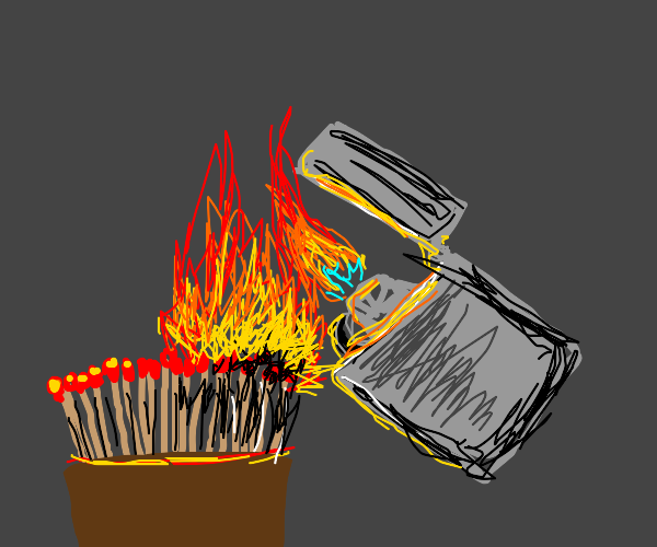 Lighting matches with zippo