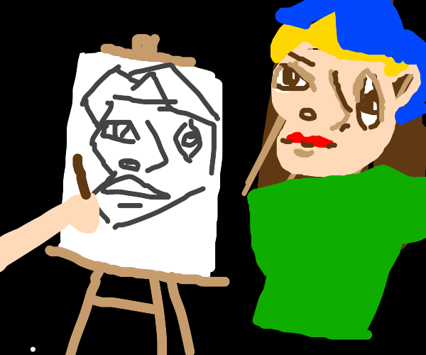 Picasso draws ugly man