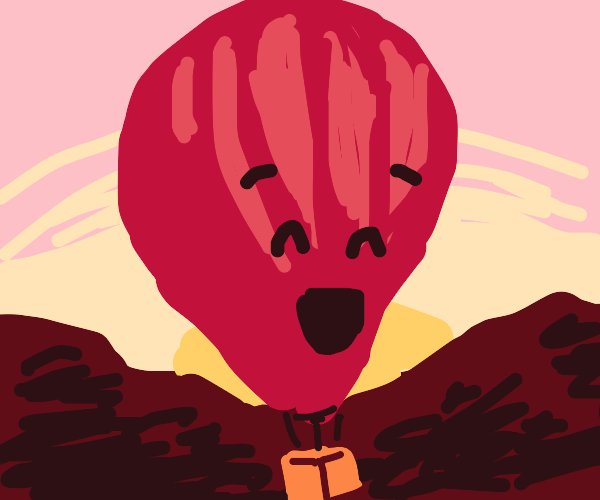 A happy hot air balloon