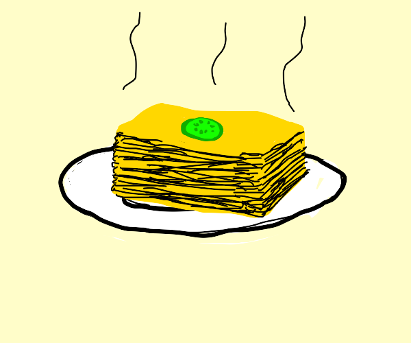 a very bland lasagna
