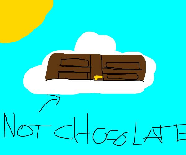 Door on a cloud that isn't chocolate