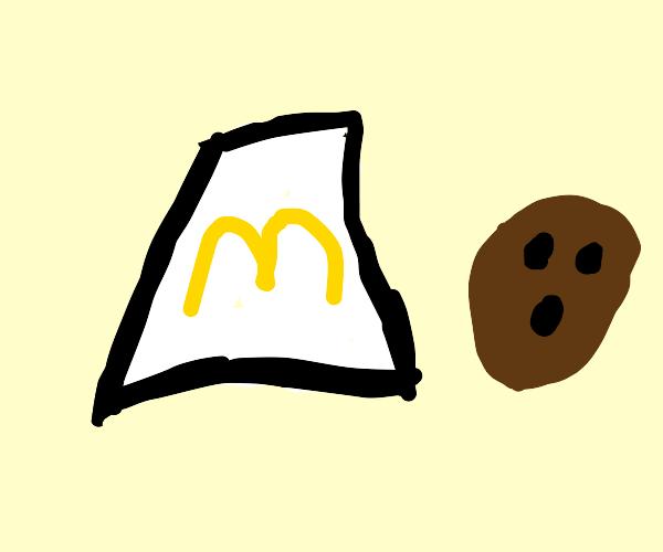 McDonalds bag and a coconut