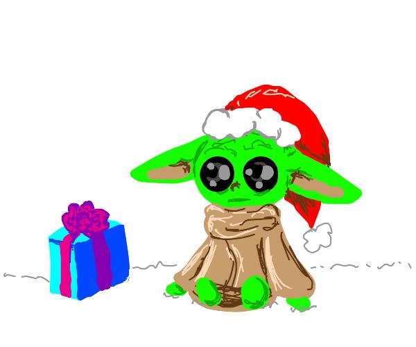 Baby yoda redy for Christmas