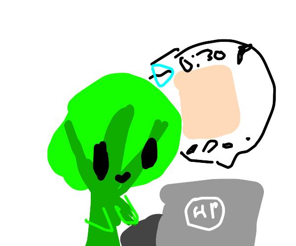 broccoli man playing drawception!