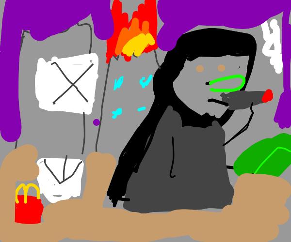 the grim reaper at mcdonalds