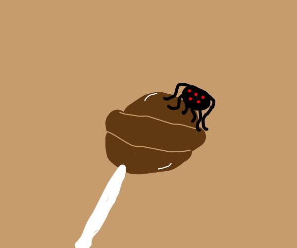Spider on a tootsie-pop