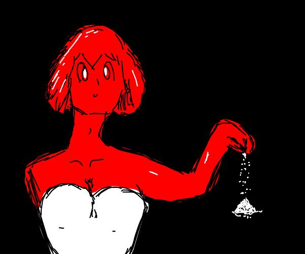 Girl giving sugar