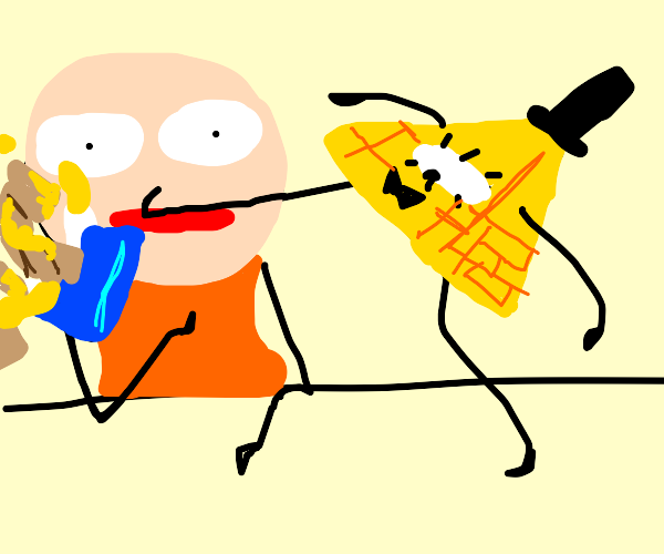 Bill Cipher doesn't enjoy nachos