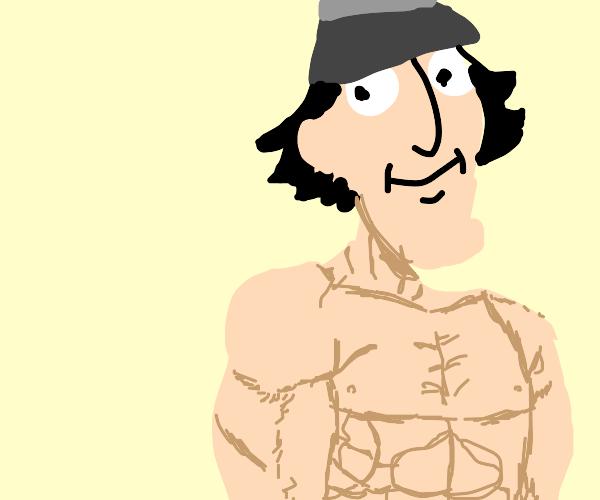 inspector gadget without a shirt