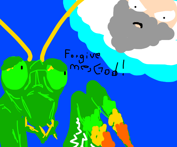praying mantis sinned