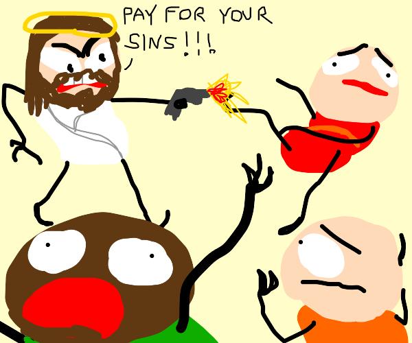 JESUS HAS A GUN!!!